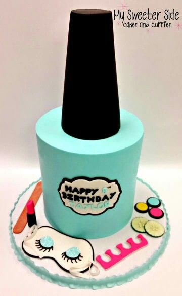 Nail polish bottle shaped cake