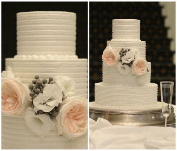 Blue Ridge Mountains Modern Jewish Wedding Cake