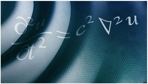 La ecuación de onda describe cómo se propagan las ondas.   Se aplica a todo tipo de ondas, desde las de agua a las de sonido y vibraciones. Incluso a las ondas de luz y radio.
