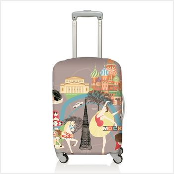 Travel with style Moscow Luggage Cover #lalapatoot #Moscow #Laggadge #stavel