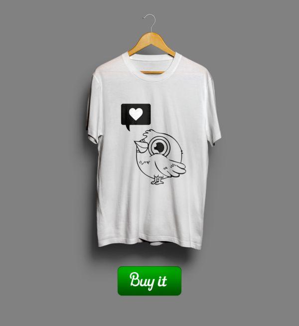 Birdie love   #birdie #Футболка #Любовь #tshirt #love #you #boy #girl #Valentine #Валентин