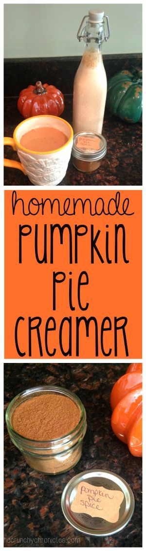Real Pumpkin Pie Creamer! This homemade pumpkin coffee creamer is made from real, wholesome ingredients - including actual pumpkin. It's easy and delicious! A yummy addition to any homemade coffee drink. (AND it's frugal!)