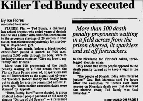 Ted Bundy: Astrological Article and Chart