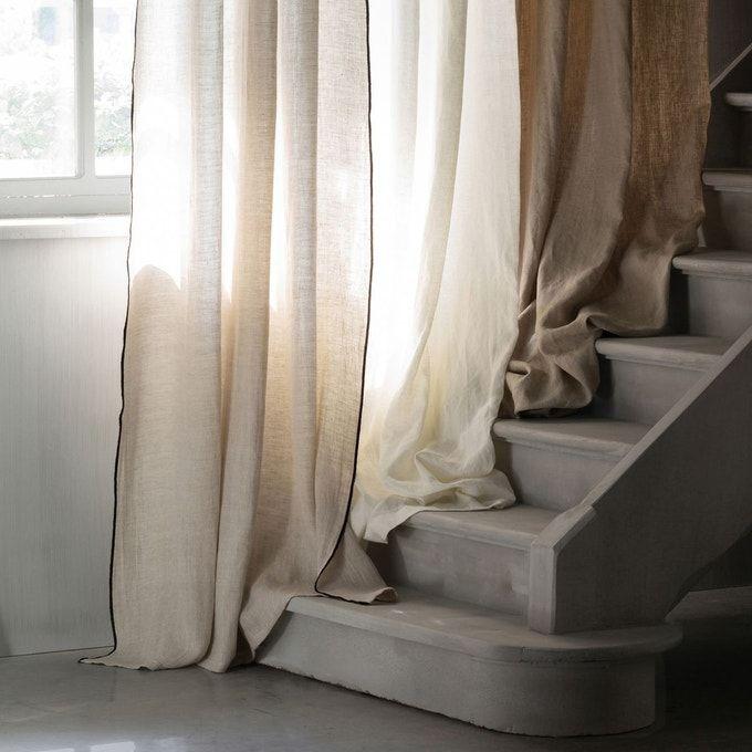 Rideau Lin Lave Occultant Oeillets Private Linen Curtains Linen Blackout Curtains Curtains