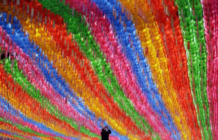 Faroles de papel en el Festival de las Linternas de Loto, en Seúl, Corea del Sur.