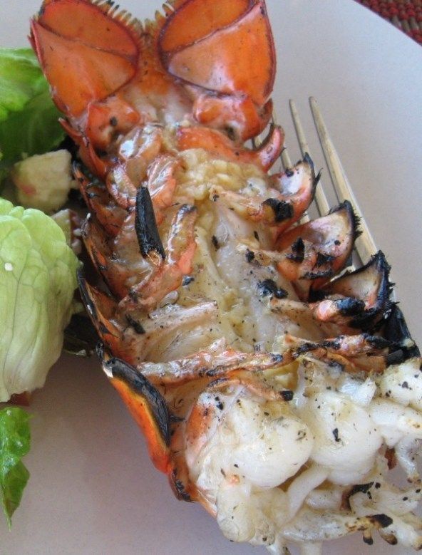 Grilled Lobster Tails with Herb Butter - a quick, easy recipe for delectable, tender lobster on the grill for that special occasion.