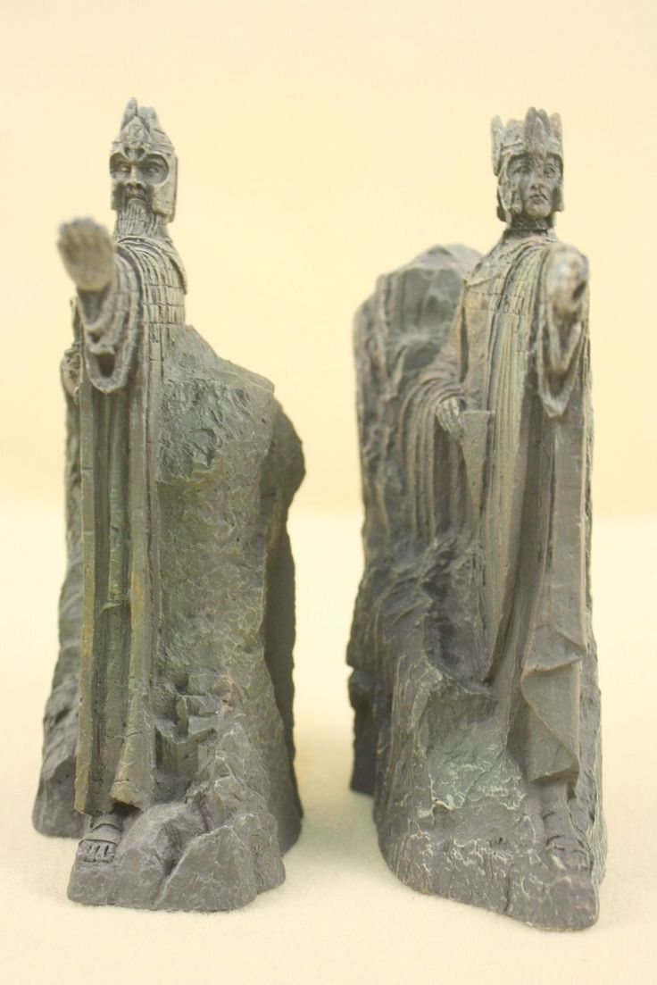 Sideshow weta the argonath lord of the rings statue book end figure bust 6 sideshow weta - Lord of the rings bookends ...