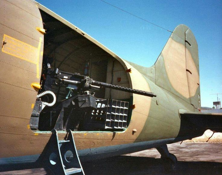 Dakota with 20mm and ground shout speakers psychological ops.
