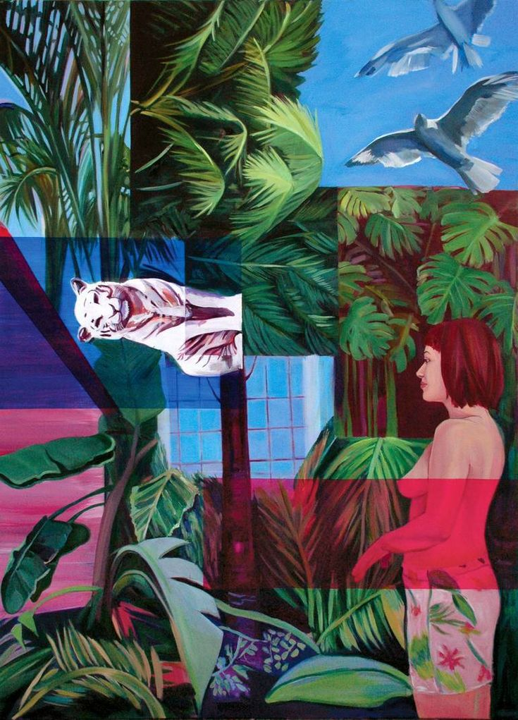 "Saatchi Art Artist Lengl Orsolya; Painting, ""Women in Jungle"" #art"