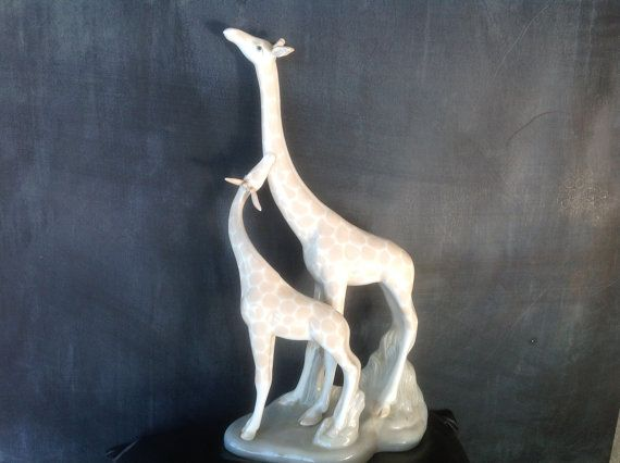 Vintage Porceval Porcelain Figurine Made In Spain Giraffe