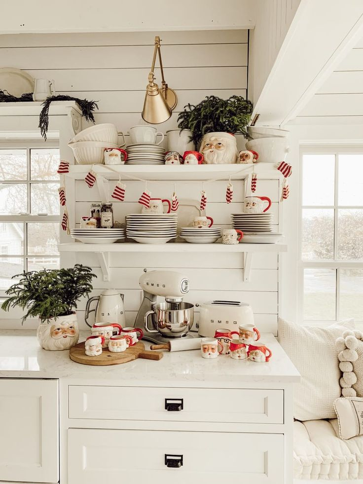 11 Easy & Affordable Kitchen Christmas Decor Ideas Santa