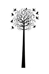 TREE WITH BIRDS 90X120CM VINYL STICKER - MRP Home Spring Fling #mrpyourhome
