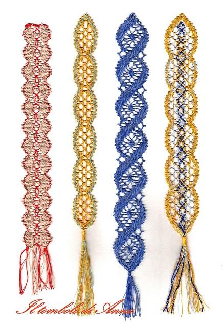 segnalibri colorati by Anna's lace, via Flickr