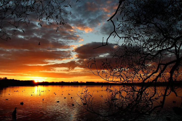 Sunset over Pennington Flash by Adele Claire | Flickr - Photo Sharing!