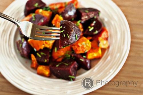 Roasted Sweet Potato and Beets Salad with a Lemon-Truffle Vinaigrette by rx4foodies #Salad #Sweet_Potato #Beets #rx4foodies