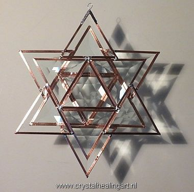 Large Prisma Merkaba 5  sacred geometry by CrystalHealingArt