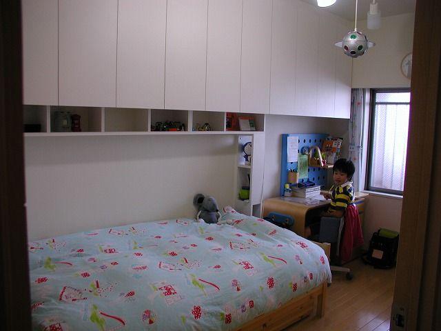 子供部屋の壁面収納家具 N邸 江東区