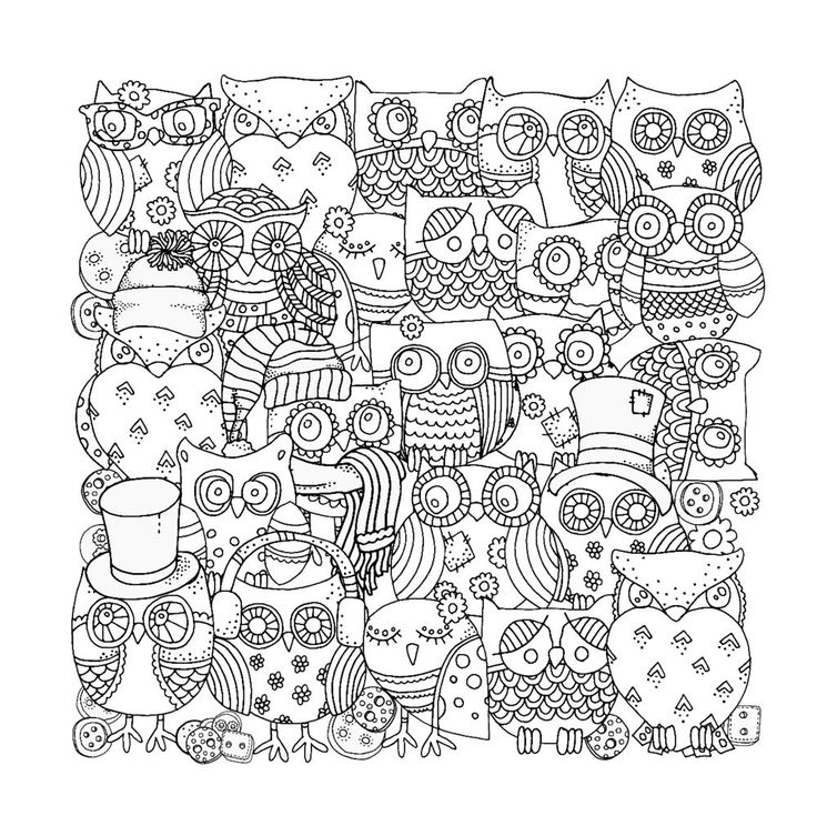 642 best owls images on Pinterest | Coloring pages, Coloring sheets ...