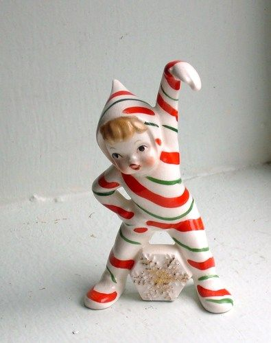 Napco 1956 Candy Cane Kid  Have some vintage Napco myself...many happy memories!