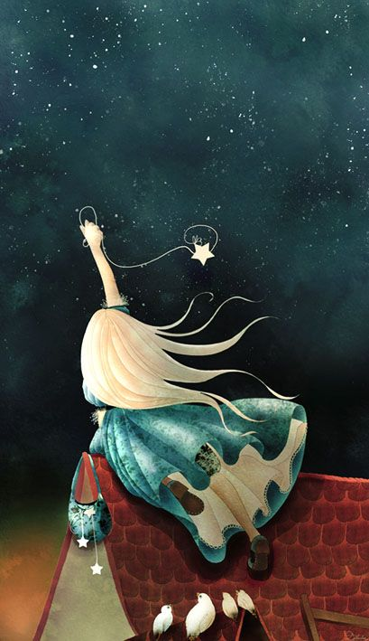 Cathy Delanssay, catching a star.