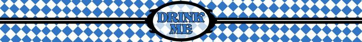 Drink Me Bottle label - Alice Style - Alice in Wonderland - Disney-inspired Party Printable ~~~~~~~~~ Size: (2550x300px). This label is designed to be printed at 8.5 x 1 inches. Simply print out and stick around your drink bottle for instant Wonderland fun! Clipart belongs to Disney. Font is Storybook www.dafont.com/storybook.font This label is **Personal use only - NOT for sale/resale/profit**