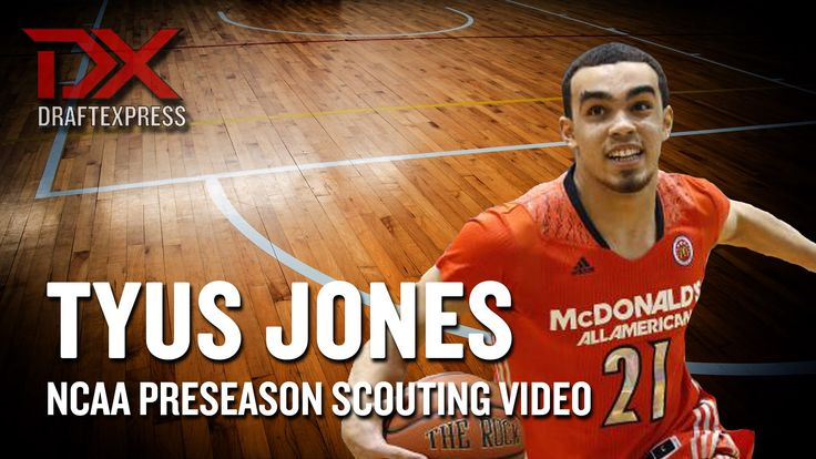 Tyus Jones 2014-15 Preseason Scouting Video  Hardcore Hoops fans,  Let's Connect!!  •	Check out my site: (http://slapdoghoops.blogspot.ca ).   •	Like my Facebook Page: https://www.facebook.com/slapdoghoops •	Follow me on Twitter: https://twitter.com/slapdoghoops •	Add my Google+ Plus Page to your Circles: https://plus.google.com/+SlapdoghoopsBlogspot/posts •	For any business or professional inquiries, connect with me on LinkedIn: http://ca.linkedin.com/in/slapdoghoops/