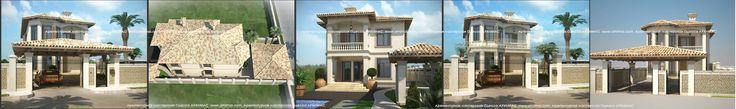 Проекты загородных домов Средиземноморский стиль Одесса Архимас