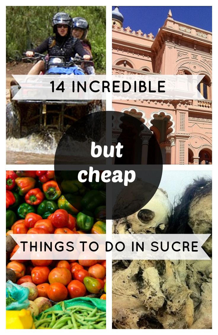 14 Incredible (But Cheap) Things to Do in Sucre, Bolivia http://www.sucrelife.com/14-incredible-but-cheap-things-to-do-in-sucre/ #travelbolivia