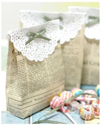 recycling newspaper to create a fashionable wrapping #reduce #reuse #recycle