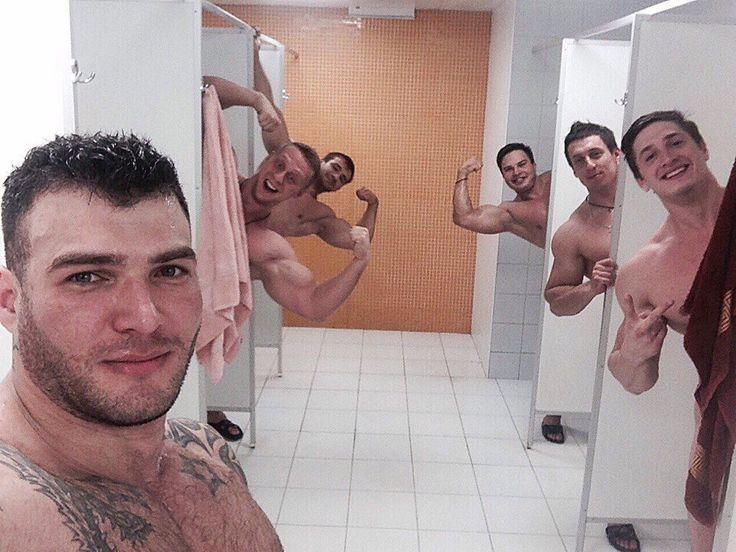 Locker Room Meat Boyz Locker Room Shower Rugby Men