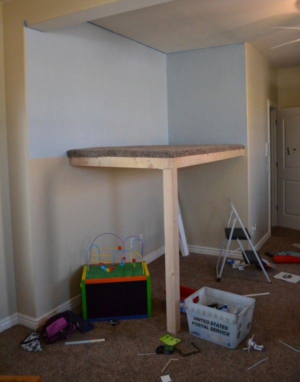 how to build an indoor tree house platform and flooring, I Am Hardware featured on Remodelaholic