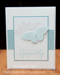 """sympathy card using the butterfly from the breast cancer """"hope"""" set--drat if i can remember the name."""