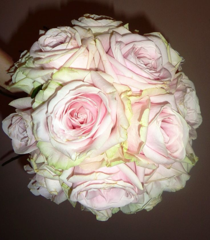 Poze buchet mireasa cu trandafiri roz