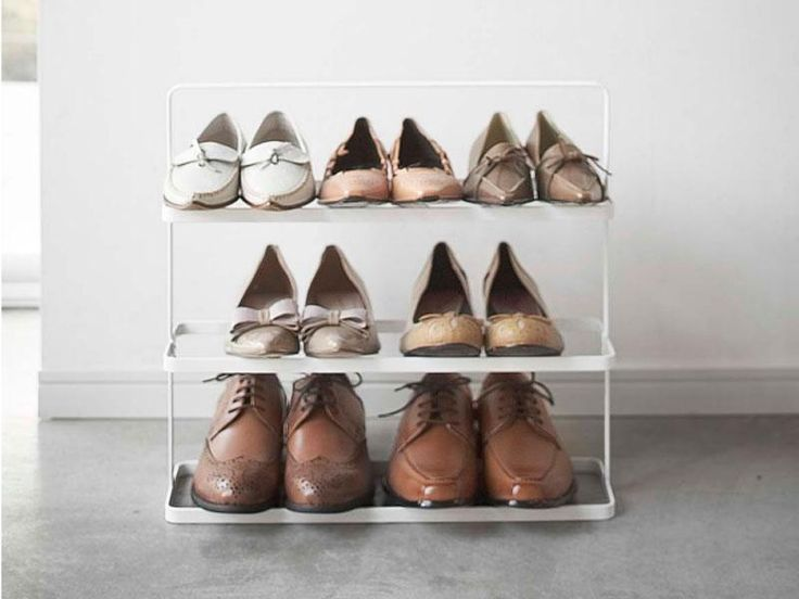 this wide large shoe rack fits into even the most cramped closets and