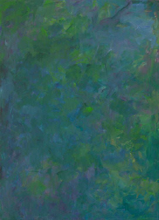 Rautio: Kirsikkapuiden varjossa - In shade of cherry trees, 110x80 cm, öljymaalaus - oil on canvas, 2017.
