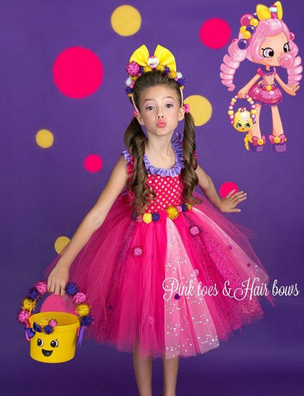 Shopkins tutu dress- shopkins costume- shopkins tutu-shopkins dress-shopkins birthday-shopkins -Bubbleisha costume-Bubbleisha dress by GlitterMeBaby on Etsy
