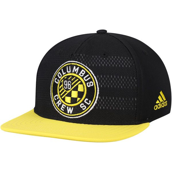 new concept 36f4b a4e2d ... inexpensive mens columbus crew sc adidas black authentic team snapback adjustable  hat your price 25.99 0091d