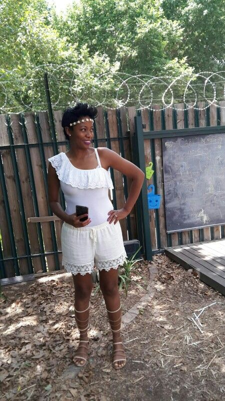 My #Bohooutfit #gladiators sandals #short #headpiece