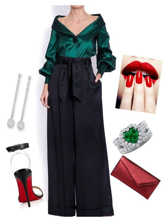 """""""extravagantf"""" by extravagantf on Polyvore featuring L.K.Bennett, Christian Louboutin, BERRICLE and Messika"""
