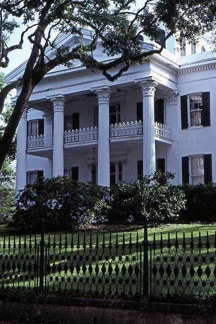 Old Southern Mansion - Stanton Hall  Natchez, Mississippi.