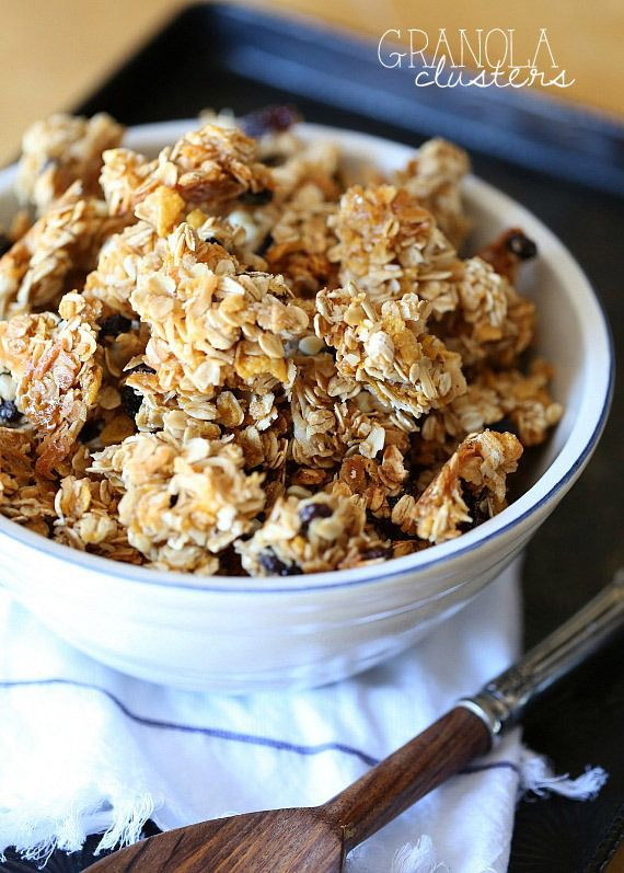 Snacking Granola Clusters ~ PERFECT granola for snacking!  There are a few tricks you NEED to know! - soo good! Could do many variations.