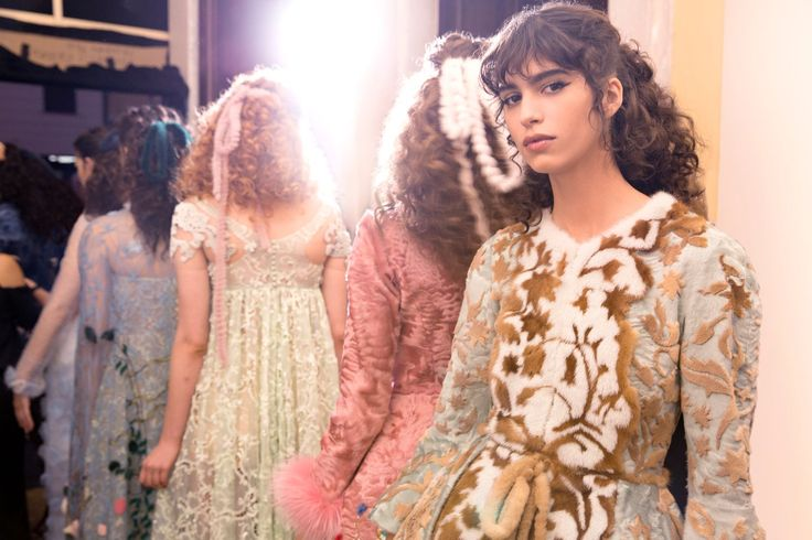 Backstage magic at the Legends and Fairy Tales fashion show in Rome, staged at the Trevi Fountain for the 90th anniversary of the Maison.