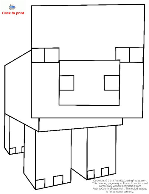 10 Best Images About Minecraft Coloring Pictures On