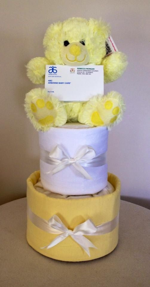 Neutral Nappy Cake by HolliesNappyCakes on Etsy