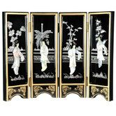 """Found it at Wayfair - 14"""" x 18.5"""" Lacquer 4 Panel Room Divider"""