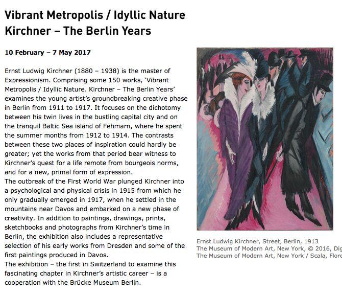 Kirchner – The Berlin Years | Kunsthaus Zürich