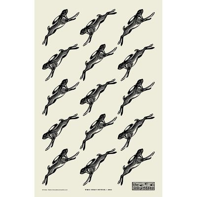 Hares Tea Towel #gifts #kitchen #towel