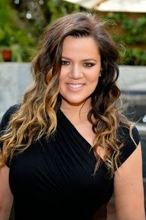 My Beauty Rules: Hair Style Ideas for a Widows Peak and Round / Pear Face Shape - Khloe Kardashian's Profile