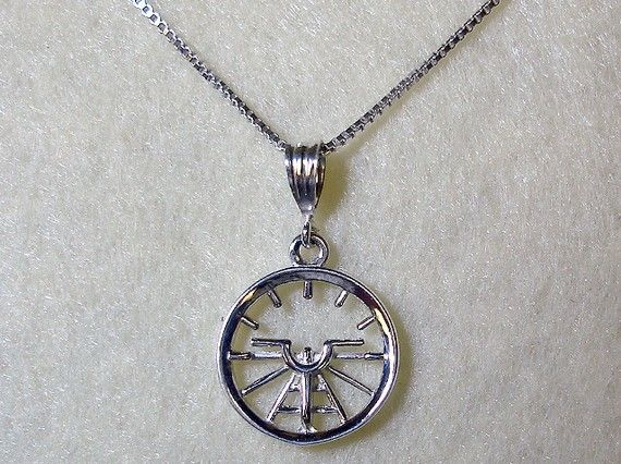 Aviation Attitude Indicator Small Sterling Silver Necklace Jewelry via Etsy