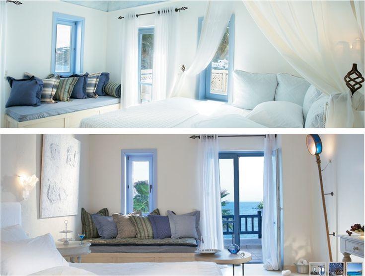 Ejemplos de Living estilo mediterráneo... el azul es el protagonista...